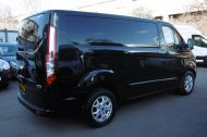 FORD TRANSIT CUSTOM 270/125 LIMITED L1H1 SWB DIESEL VAN IN BLACK WITH ONLY 37.000 MILES,AIR CONDITIONING,HEATED SEATS,ELECTRIC PACK,CRUISE CONTROL,ALLOY WHEELS AND MORE  - 1053 - 6