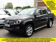 VOLKSWAGEN AMAROK  2.0 TDI 180 HIGHLINE AUTOMATIC 4 MOTION TECH DOUBLE CAB WITH FULL GREY LEATHER , JUST ARRIVED **** £14995 + VAT **** - 1463 - 1