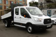 FORD TRANSIT 350 L3 DOUBLE CREW CAB ALLOY TIPPER WITH ONLY 34.000 MILES,6 SPEED MANUAL,TOW BAR AND MORE  - 1228 - 3