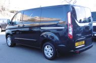 FORD TRANSIT CUSTOM 270/125 LIMITED L1H1 SWB DIESEL VAN IN BLACK WITH ONLY 37.000 MILES,AIR CONDITIONING,HEATED SEATS,ELECTRIC PACK,CRUISE CONTROL,ALLOY WHEELS AND MORE  - 1053 - 7