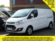 FORD TRANSIT CUSTOM 290/130 LIMITED L2H1 LWB 2.0 130PS EURO 6,IN WHITE WITH AIR CONDITIONING,PARKING SENSORS AND MORE  - 1374 - 1