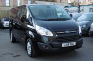FORD TRANSIT CUSTOM 270/125 LIMITED L1H1 SWB DIESEL VAN IN BLACK WITH ONLY 37.000 MILES,AIR CONDITIONING,HEATED SEATS,ELECTRIC PACK,CRUISE CONTROL,ALLOY WHEELS AND MORE  - 1053 - 19