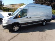 FORD TRANSIT 350 2.0 TDCI 130 TREND L4 H3 JUMBO ** EURO 6 ** WITH AIR CONDITIONING  IN METALLIC SILVER , JUST ARRIVED **** £15995 + VAT **** - 1477 - 2