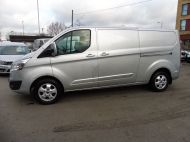 FORD TRANSIT CUSTOM 290/125 LIMITED L2H1 LWB IN SILVER WITH ONLY 54.000 MILES,AIR CONDTIONING,HEATED SEATS,ELECTRIC PACK,ALLOY WHEELS AND MORE - 1283 - 2