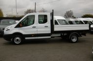 FORD TRANSIT 350 L3 DOUBLE CREW CAB ALLOY TIPPER WITH ONLY 34.000 MILES,6 SPEED MANUAL,TOW BAR AND MORE  - 1228 - 19