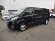FORD TRANSIT CUSTOM 300 LIMITED 2.0 DCIV 170 L2 H1 5 SEAT CREWVAN  IN METALLIC BLACK WITH ONLY 15000 MILES , 1 OWNER , JUST ARRIVED **** £22995 + VAT **** - 1664 - 1