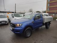FORD RANGER XL 4X4 S/C 2.2 TDCI 160 6-SPEED WITH ALUMINIUM DROPSIDE BODY IN DEEP IMPACT BLUE , AIR CONDITIONING , ONLY 28000 MILES **** DEPOSIT TAKEN **** - 1663 - 1