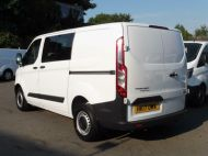 FORD TRANSIT CUSTOM 290 L1 SWB 6 SEATER DOUBLE CAB COMBI CREW VAN IN WHITE WITH BLUETOOTH,6 SPEED,EURO 6 AND MORE *** SOLD *** - 1550 - 5