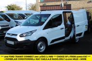 FORD TRANSIT CONNECT 200 L1 SWB 1.6TDCI IN WHITE WITH AIR CONDITIONING,DAB RADIO,BLUETOOTH AND MORE *** CHOICE OF 3 FROM £6995 +VAT *** - 1236 - 1