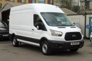 FORD TRANSIT 350 L3 H3 RWD 2.0 TDCI 130 IN WHITE WITH AIR CONDITIONING ** EURO 6 , ULEZ COMPLIANT  , ONLY  46000 MILES **** £15495 + VAT **** - 1742 - 4
