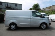 FORD TRANSIT CUSTOM 270/125 LIMITED L1H1 SWB DIESEL VAN IN SILVER WITH ONLY 57.000 MILES,AIR CONDITIONING,HEATED SEATS,ELECTRIC PACK,CRUISE CONTROL,ALLOY WHEELS AND MORE  - 1111 - 21