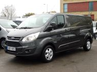FORD TRANSIT CUSTOM 290/130 LIMITED EURO 6 L2 LWB IN MAGNETIC GREY WITH ONLY 23.000 MILES,2.0 130PS,AIR CONDITIONING **** SOLD **** - 1239 - 3