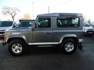 LAND ROVER DEFENDER 90 XS STATION WAGON 2.4 TDCI 120 6 - SPEED IN METALLIC GREY WITH HALF LEATHER AND AIR CONDITIONING , JUST ARRIVED **** £19995 **** - 1297 - 7