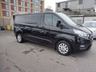 FORD TRANSIT CUSTOM 300 LIMITED 2.0 DCIV 170 L2 H1 5 SEAT CREWVAN  IN METALLIC BLACK WITH ONLY 15000 MILES , 1 OWNER , JUST ARRIVED **** £22995 + VAT **** - 1664 - 3