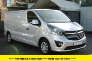 VAUXHALL VIVARO 2900 L2H1 LWB CDTI SPORTIVE IN SILVER WITH AIR CONDITIONING,PARKING SENSORS,ELECTRIC PACK AND MORE *** SOLD *** - 1335 - 1
