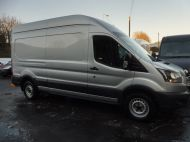FORD TRANSIT  350 L3 H3 2.0 TDCI 130 EURO 6 ** ULEZ COMPLIANT **  IN METALLIC SILVER , 1 OWNER , THIS VEHICLE IS AN EXCELLENT MOBILE WORKSHOP WITH NO SIDE LOADING DOOR & FULL RACKING SYSTEM **** £17995 + VAT **** - 1629 - 1
