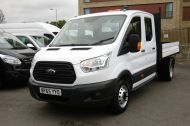 FORD TRANSIT 350 L3 DOUBLE CREW CAB ALLOY TIPPER WITH ONLY 34.000 MILES,6 SPEED MANUAL,TOW BAR AND MORE  - 1228 - 23