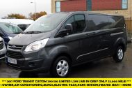FORD TRANSIT CUSTOM 290/130 LIMITED L2H1 LWB IN MAGNETIC GREY WITH ONLY 23.000 MILES,2.0 130PS EURO 6,AIR CONDITIONING AND MORE - 1239 - 1