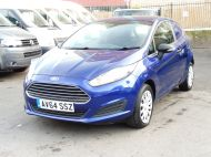 FORD FIESTA VAN 1.5 TDCI WITH AIR CONDITIONING IN DEEP IMPACT BLUE WITH ONLY 54.000 MILES - 1234 - 14