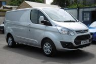 FORD TRANSIT CUSTOM 270/125 LIMITED L1H1 SWB DIESEL VAN IN SILVER WITH ONLY 57.000 MILES,AIR CONDITIONING,HEATED SEATS,ELECTRIC PACK,CRUISE CONTROL,ALLOY WHEELS AND MORE  - 1111 - 4