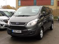 FORD TRANSIT CUSTOM 290/130 LIMITED EURO 6 L2 LWB IN MAGNETIC GREY WITH ONLY 23.000 MILES,2.0 130PS,AIR CONDITIONING **** SOLD **** - 1239 - 24