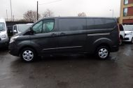FORD TRANSIT CUSTOM 290/130 LIMITED L2H1 LWB IN MAGNETIC GREY WITH ONLY 23.000 MILES,2.0 130PS EURO 6,AIR CONDITIONING AND MORE - 1239 - 7
