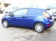 FORD FIESTA VAN 1.5 TDCI WITH AIR CONDITIONING IN DEEP IMPACT BLUE WITH ONLY 54.000 MILES - 1234 - 9