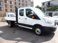 FORD TRANSIT 350/125 L3 DOUBLE CREW CAB ALLOY TIPPER WITH ONLY 56.000 MILES,1 OWNER,6 SPEED,TOW BAR AND MORE - 1428 - 4