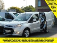 FORD TRANSIT CONNECT 200 LIMITED L1 SWB EURO 6 VAN IN SILVER WITH ONLY 41.000 MILES,AIR CONDITIONING,ELECTRIC PACK,SENSORS,ALLOY'S AND MORE - 1555 - 1