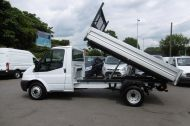 FORD TRANSIT 350 SINGLE CAB ALLOY TIPPER WITH ONLY 50.000 MILES,6 SPEED,TWIN REAR WHEELS,EURO 5 AND MORE - 1120 - 8
