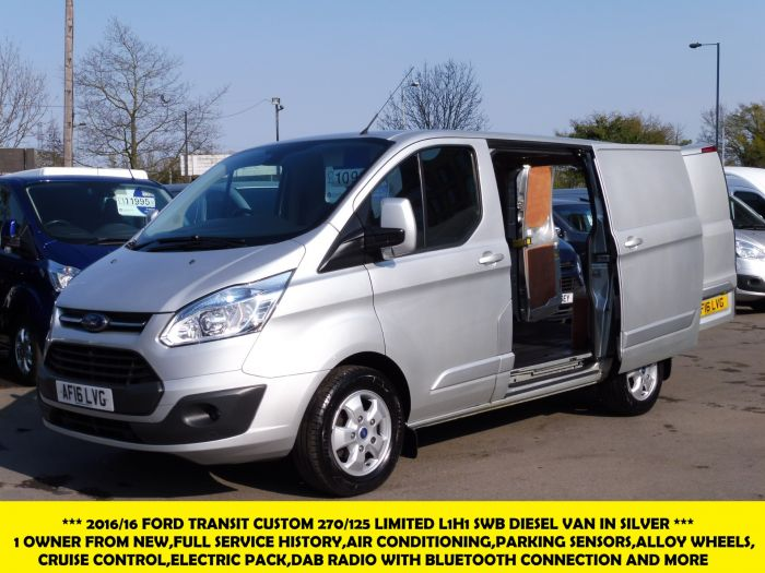 2c0512f59d641e 23 Photos. Click to Enlarge. FORD TRANSIT CUSTOM 270 125 LIMITED L1H1 SWB  DIESEL VAN IN SILVER ...