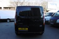FORD TRANSIT CUSTOM 270/125 LIMITED L1H1 SWB DIESEL VAN IN BLACK WITH ONLY 37.000 MILES,AIR CONDITIONING,HEATED SEATS,ELECTRIC PACK,CRUISE CONTROL,ALLOY WHEELS AND MORE  - 1053 - 4