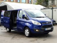 FORD TRANSIT CUSTOM 290/125 LIMITED L1H1 SWB 6 SEATER DOUBLE CAB COMBI VAN WITH AIR CONDITIONING,PARKING SENSORS,ALLOYS AND MORE - 1388 - 2