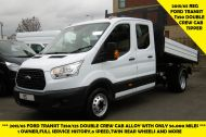 FORD TRANSIT 350/125 L3 DOUBLE CREW CAB ALLOY TIPPER WITH ONLY 56.000 MILES,1 OWNER,6 SPEED,TOW BAR AND MORE - 1428 - 1