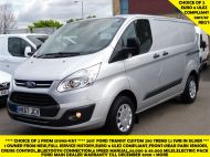 FORD TRANSIT CUSTOM 290 TREND L1H1 SWB IN SILVER 2.0 EURO 6 WITH ONLY 34.000 MILES,FRONT+REAR PARKING SENSORS,ELECTRIC PACK AND MORE  - 1383 - 1
