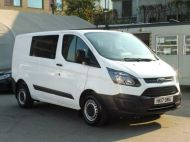 FORD TRANSIT CUSTOM 290 L1 SWB 6 SEATER DOUBLE CAB COMBI CREW VAN IN WHITE WITH BLUETOOTH,6 SPEED,EURO 6 AND MORE *** SOLD *** - 1550 - 4