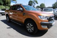 FORD RANGER WILDTRAK 4X4 DCB 3.2 TDCI 200 PS AUTOMATIC , WITH SAT NAV , HALF LEATHER IN ORANGE WITH ONLY 18000 MILES AND MORE ****  £21995 + VAT **** - 1142 - 3