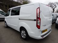 FORD TRANSIT CUSTOM 290/130 LIMITED L1H1 EURO 6  2.0 TDCI 130 6 - SEAT  COMBI VAN IN FROZEN WHITE WITH ONLY 19000 MILES , **** £15995 + VAT ****  - 1342 - 6