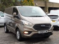 FORD TRANSIT CUSTOM 280/130 LIMITED L1 SWB EURO 6 WITH ONLY 22.000 MILES,AIR CONDITIONING,HEATED SEATS,SENSORS,ELECTRIC PACK AND MORE **** £18995 + VAT **** - 1543 - 26