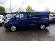 FORD TRANSIT CUSTOM 290/125 LIMITED L1H1 SWB 6 SEATER DOUBLE CAB COMBI VAN WITH AIR CONDITIONING,PARKING SENSORS,ALLOYS AND MORE - 1388 - 8