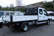 FORD TRANSIT 350 L3 DOUBLE CREW CAB ALLOY TIPPER WITH ONLY 34.000 MILES,6 SPEED MANUAL,TOW BAR AND MORE  - 1228 - 8