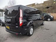 FORD TRANSIT CUSTOM 300 LIMITED 2.0 DCIV 170 L2 H1 5 SEAT CREWVAN  IN METALLIC BLACK WITH ONLY 15000 MILES , 1 OWNER , JUST ARRIVED **** £22995 + VAT **** - 1664 - 4