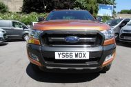 FORD RANGER WILDTRAK 4X4 DCB 3.2 TDCI 200 PS AUTOMATIC , WITH SAT NAV , HALF LEATHER IN ORANGE WITH ONLY 18000 MILES AND MORE ****  £21995 + VAT **** - 1142 - 2