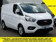 FORD TRANSIT CUSTOM 300/130 LIMITED L1 SWB 2.0 TDCI EURO 6 IN WHITE WITH ONLY 34.000 MILES,AIR CONDITIONING AND MORE - 1564 - 1