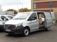 MERCEDES VITO 111 CDI LWB IN SILVER WITH ONLY 58.000 MILES,AIR CONDITIONING,CRUISE CONTROL,BLUETOOTH,6 SPEED AND MORE - 1632 - 24