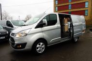 FORD TRANSIT CUSTOM 290/130 LIMITED L1H1 LWB IN SILVER WITH ONLY 21.000 MILES,2.0 130PS EURO 6,AIR CONDITIONING AND MORE - 1261 - 21