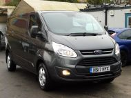 FORD TRANSIT CUSTOM 290/130 LIMITED EURO 6 L2 LWB IN MAGNETIC GREY WITH ONLY 23.000 MILES,2.0 130PS,AIR CONDITIONING **** SOLD **** - 1239 - 25