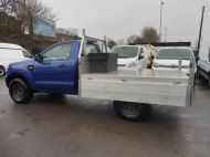 FORD RANGER XL 4X4 S/C 2.2 TDCI 160 6-SPEED WITH ALUMINIUM DROPSIDE BODY IN DEEP IMPACT BLUE , AIR CONDITIONING , ONLY 28000 MILES **** DEPOSIT TAKEN **** - 1663 - 8