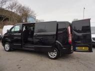 FORD TRANSIT CUSTOM 300 LIMITED 2.0 DCIV 170 L2 H1 5 SEAT CREWVAN  IN METALLIC BLACK WITH ONLY 15000 MILES , 1 OWNER , JUST ARRIVED **** £22995 + VAT **** - 1664 - 7