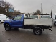 FORD RANGER XL 4X4 S/C 2.2 TDCI 160 6-SPEED WITH ALUMINIUM DROPSIDE BODY IN DEEP IMPACT BLUE , AIR CONDITIONING , ONLY 28000 MILES **** DEPOSIT TAKEN **** - 1663 - 6